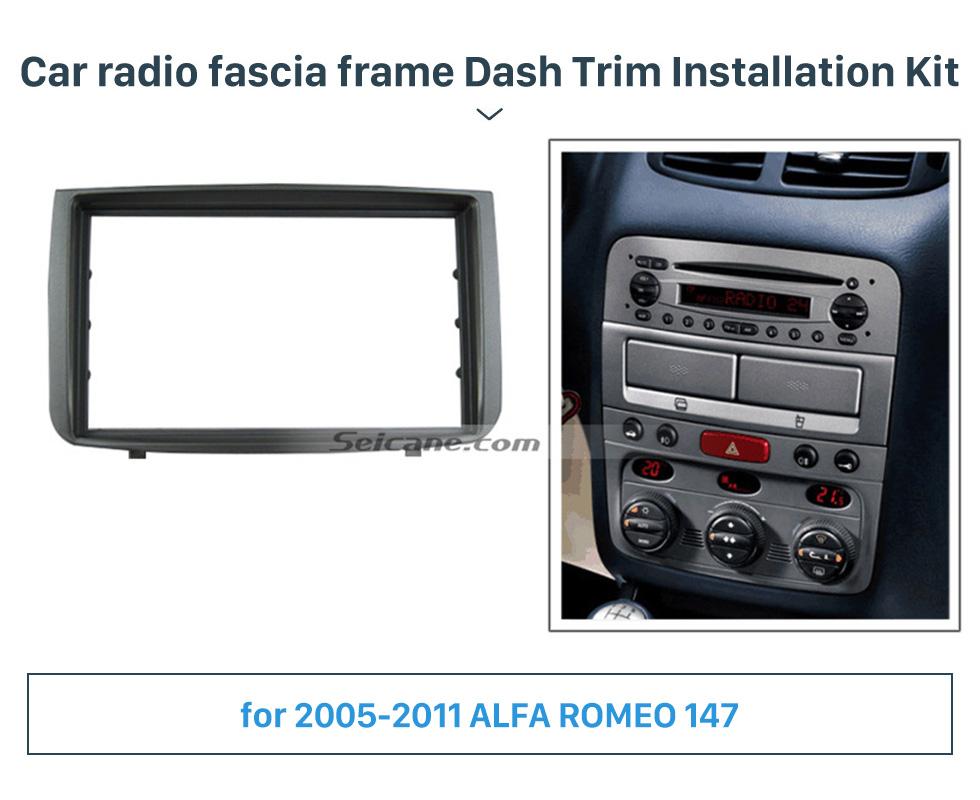 Seicane New Arrival DOUBLE DIN Car Radio Fascia for 2005-2011 ALFA ROMEO 147 Dashboard DVD Player Installation Frame Trim Panel Kit