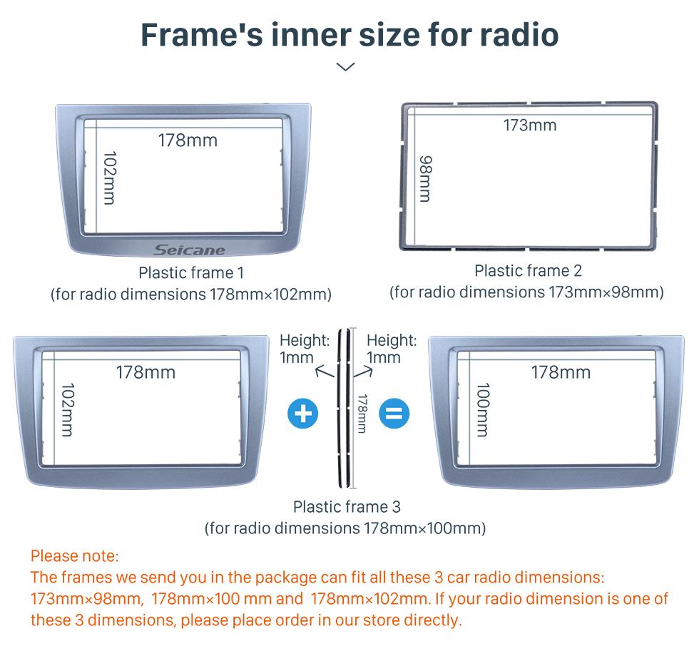 Seicane High Quality 2 DIN Car Radio Fascia for 2008 + ALFA ROMEO MITO Dash DVD Player Stereo Surrounding Installation Trim Panel Frame