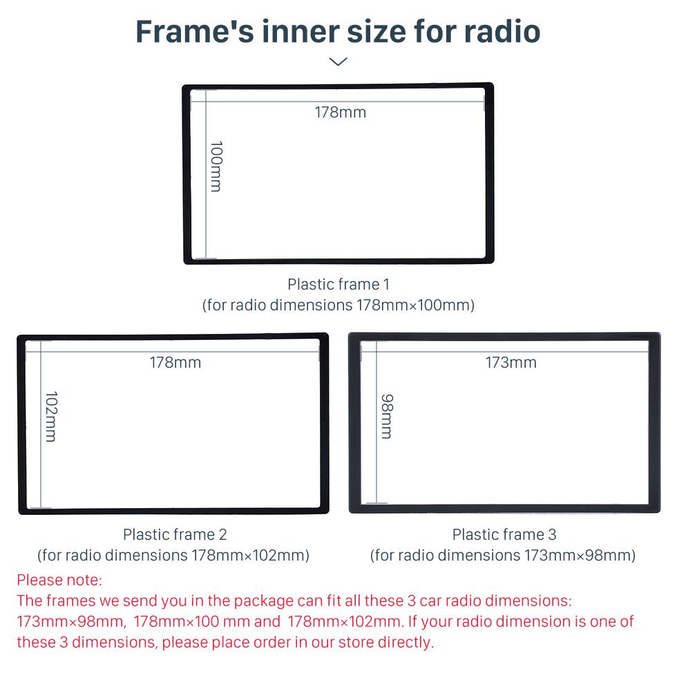 Frame's inner size for radio Wooden Color 2Din Car Radio Fascia for 2010 Skoda Octavia DVD Frame Face Plate Stereo Dash Fitting Adaptor