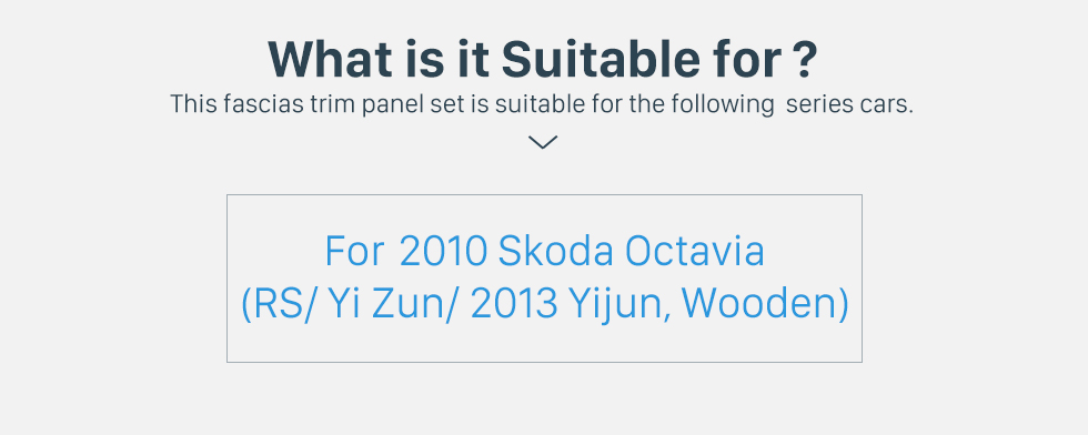 What is it Suitable for? Wooden Color 2Din Car Radio Fascia for 2010 Skoda Octavia DVD Frame Face Plate Stereo Dash Fitting Adaptor