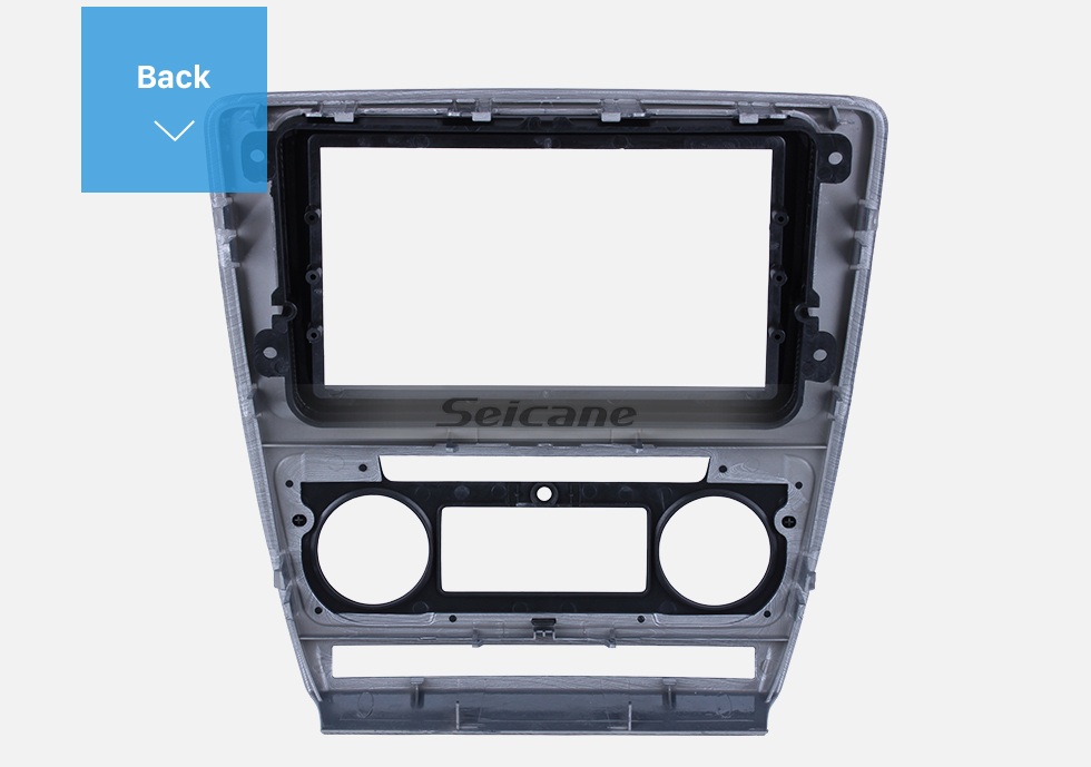 Seicane Wire Drawing 2Din Car Radio Fascia for 2013 SKODA YI JIE Audio Fitting Panel Adaptor Face Plate DVD Player Frame