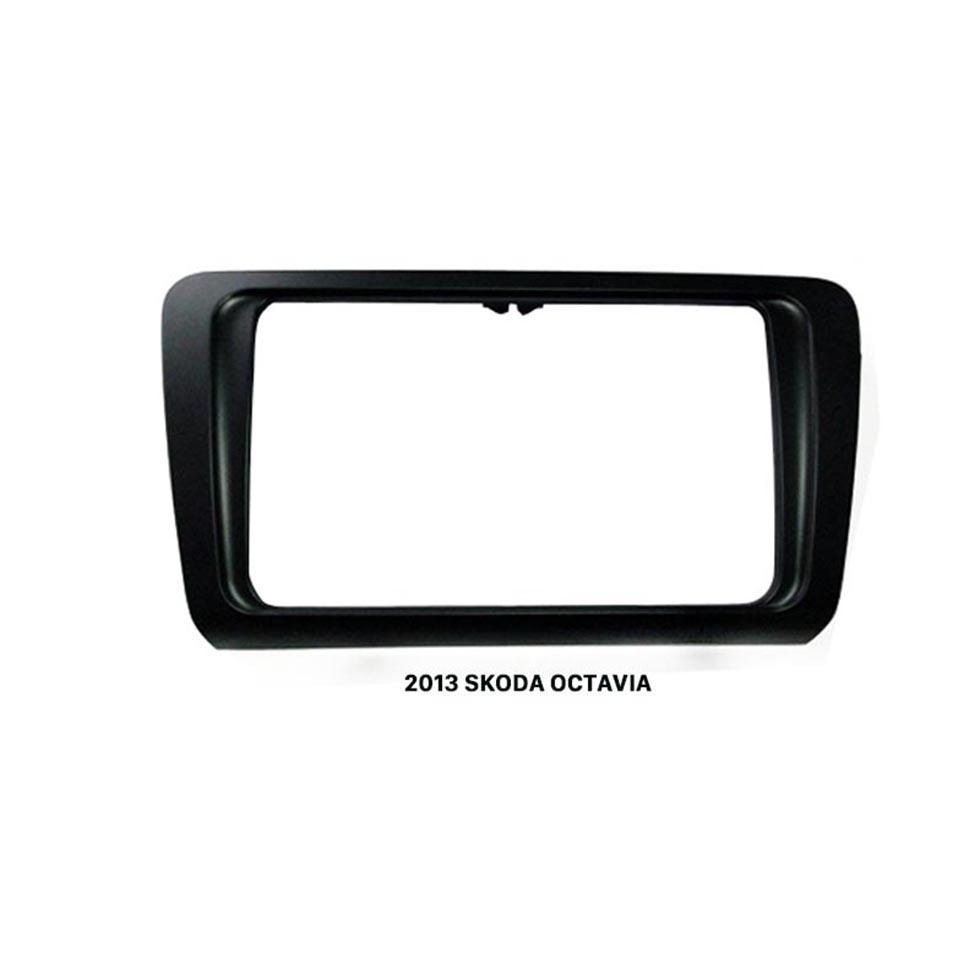Seicane Black Double Din Car Radio Fascia for 2013 Skoda Octavia Auto Stereo Panel Kit Fitting Frame DVD Player