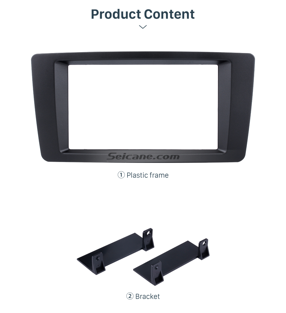 Seicane 173*98mm Double Din Car Radio Fascia for 2004-2013 Skoda Octavia Laura Yeti Audio Player Trim Panel Kit Stereo Dashboard Install Frame