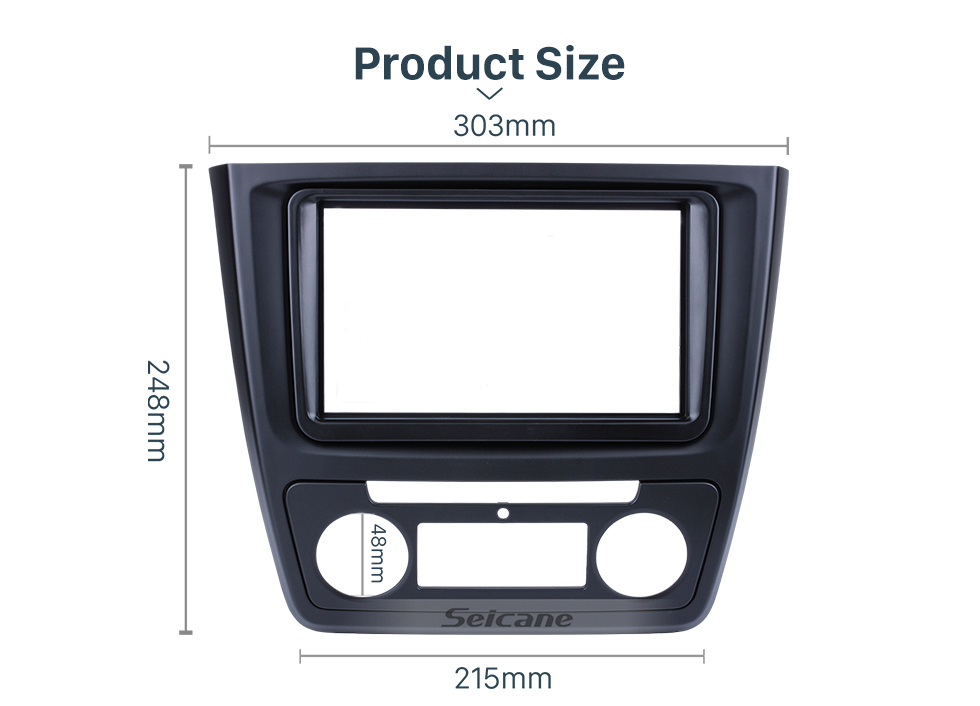 Seicane Nice 2Din Car Radio Fascia for 2014 Skoda Yeti with Auto AC CD Trim Stereo Dash Panel Frame Audio Cover