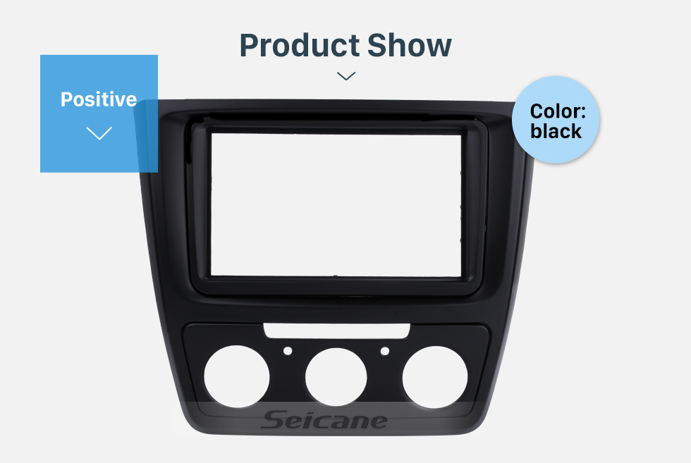 Seicane Cool 2Din Car Radio Fascia for 2014 Skoda Yeti with Manual AC Audio Player Stereo Frame Face Plate DVD Panel