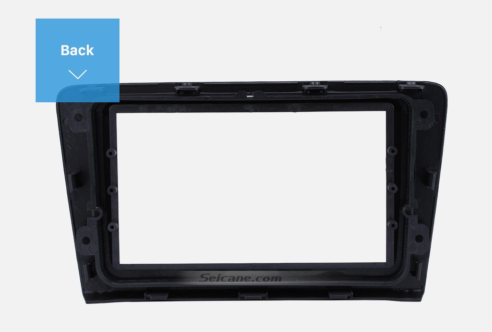 Seicane Black 2Din Car Radio Fascia for 2014 Skoda Rapid Spaceback DVD Frame Fitting Adaptor Dash Mount CD Trim