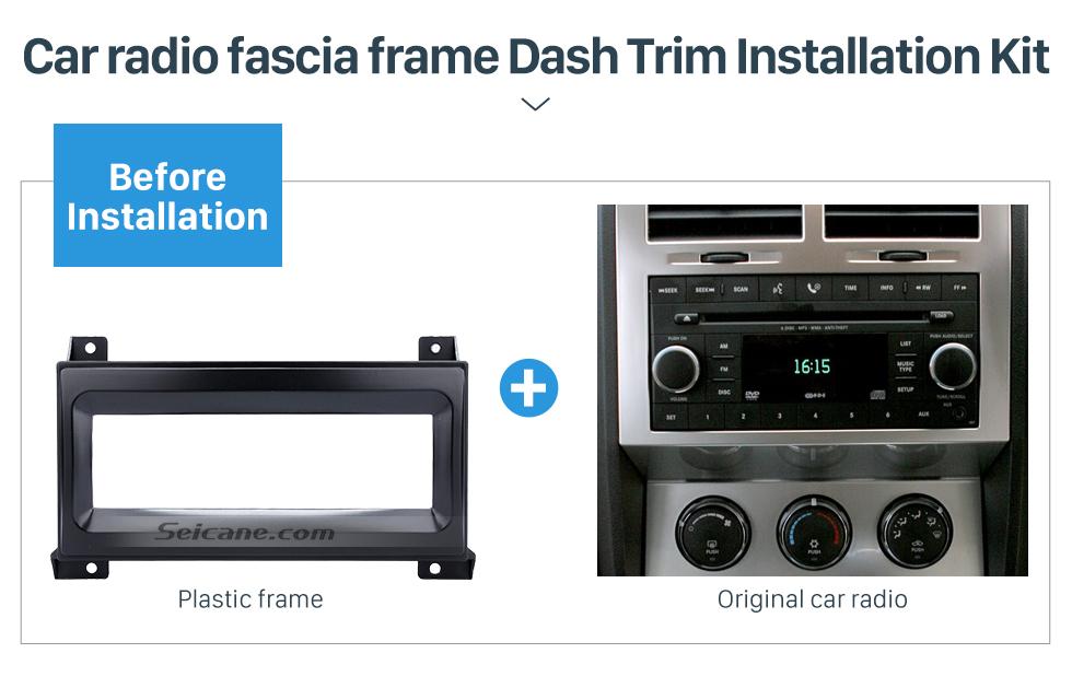 Seicane Car Radio Fascia for 2007 Chrysler Serbring Dodge Avenger Nitro Jeep Wrangler Vehicle-mounted Face Plate Install Trim Bezel Kit