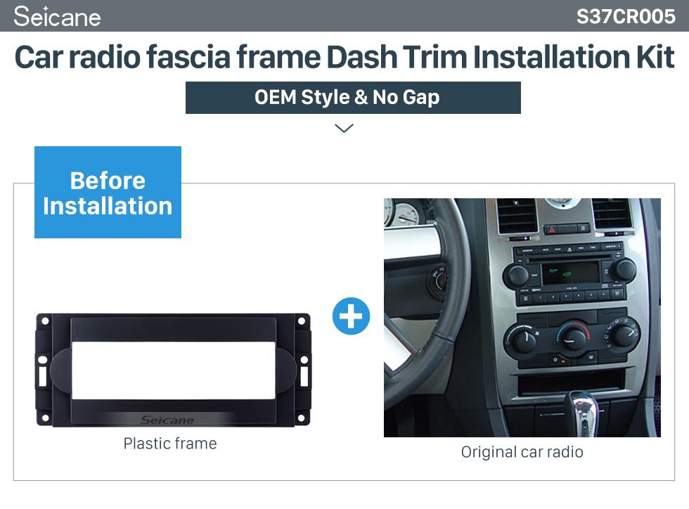 Seicane High Quality 1DIN Car Radio Fascia for 2004+ CHRYSLER 300C Stereo Dashboard Auto Mount Frame Installation Panel Kit Trim Car-styling