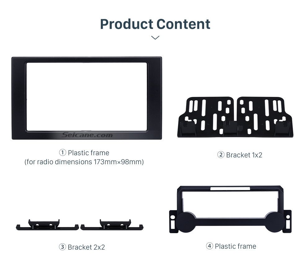 Seicane Top Quality 2 DIN Car Radio Frame Fascia for 2004-2010 CHRYSLER CONVERSION Auto Stereo Mounted Install Trim Panel Face Plate Kit