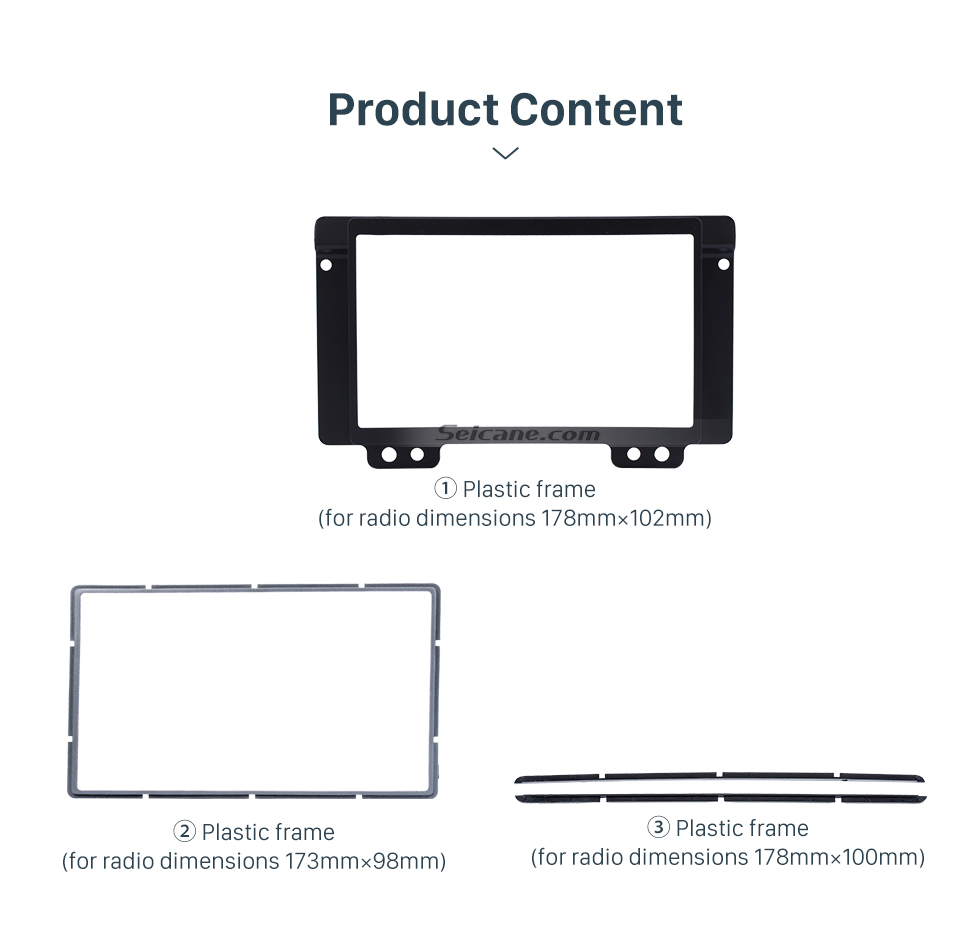Seicane Black Double Din Car Radio Fascia for 2004 2005 2006 2007 Land Rover Discovery Dash CD Stereo Install Audio Frame Panel