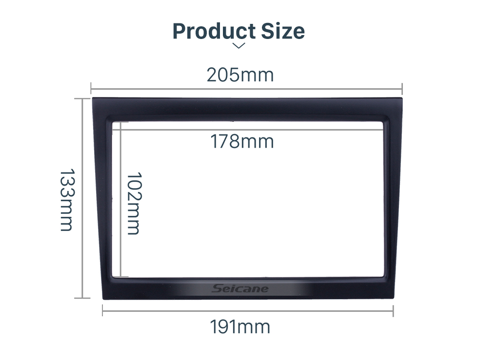 Seicane Black Double Din Car Radio Fascia for 2009 PORSCHE 997 987 Stereo Adapter Panel Kit Dash CD DVD Frame