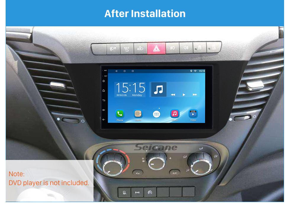 Seicane In dash Car Stereo Radio Fascia Panel Install Frame Dash Bezel Trim kit Cover Trim For 2014+ IVECO DAILY OEM style No gap