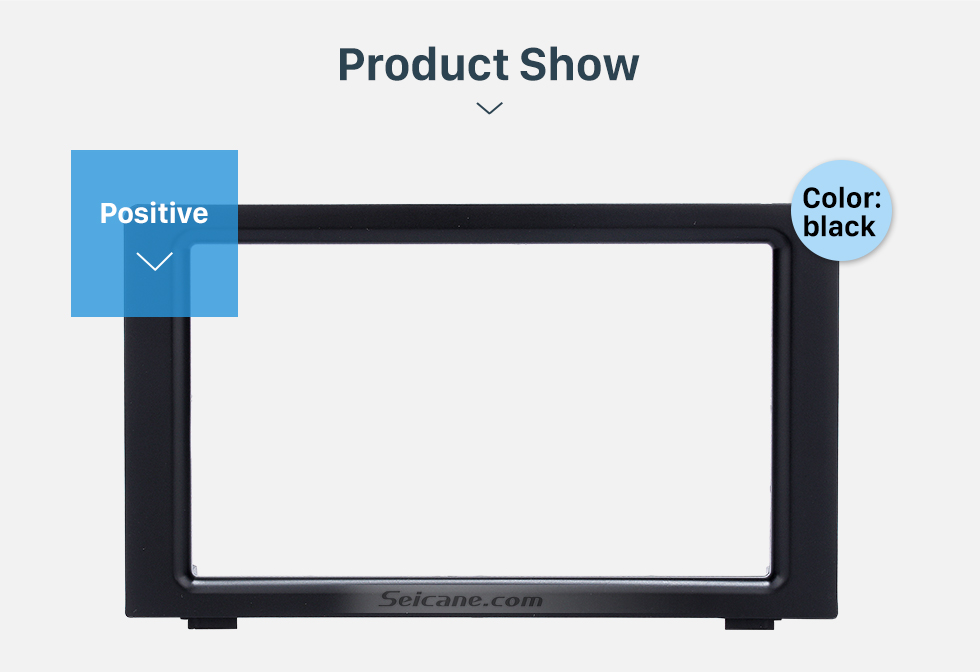 Seicane Fabulous Double Din Car Radio Fascia for 2010 SAAB 93 DVD Panel Stereo Player Outter Frame Trim Bezel