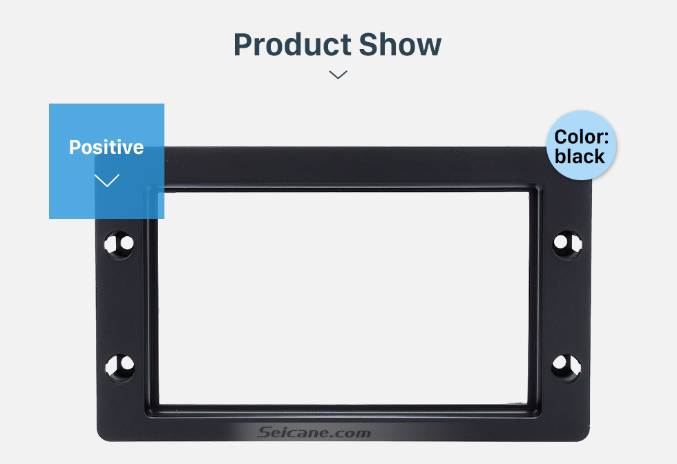 Seicane Perfect Double Din Car Radio Fascia for 1998+ SAAB 95 Dashboard CD DVD GPS Fitting Adaptor Stereo Player Frame