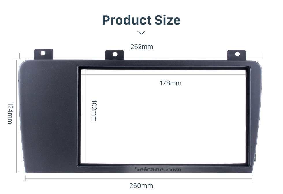 Seicane Elegant Double Din Car Radio Fascia for 2004 2005 2006 2007 Volvo XC70 V70 S60 Trim Surround CD Dashboard Panel Audio Frame