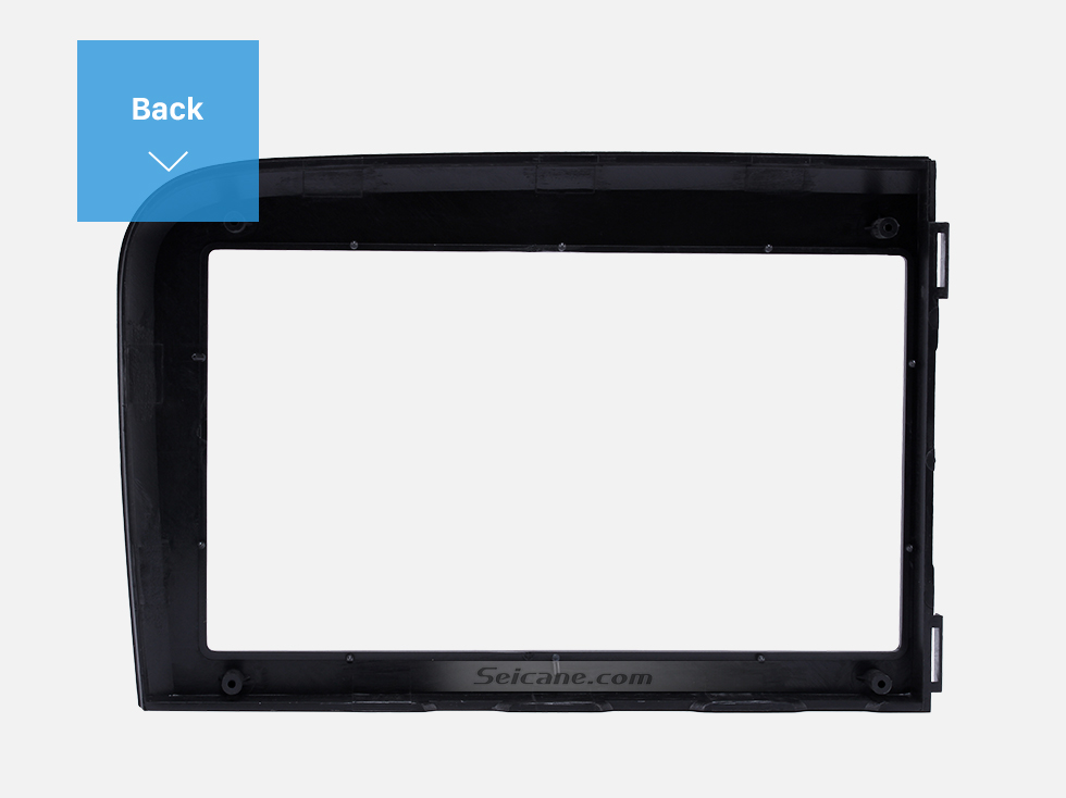 Seicane Black Double Din Car Radio Fascia for 2001 2002 2003 2004 2005 2006 Volvo S80 Dash Kit DVD GPS Decorative Frame Dashboard Panel