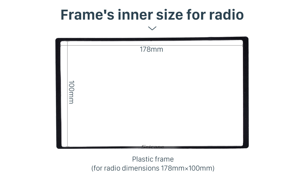 Seicane 2 Din Frame Car Stereo Radio Fascia Panel for 2006-2010 Ford Everest Ford Ranger Mazda BT-50 Install Dash Bezel Trim Kit OEM style No Gap