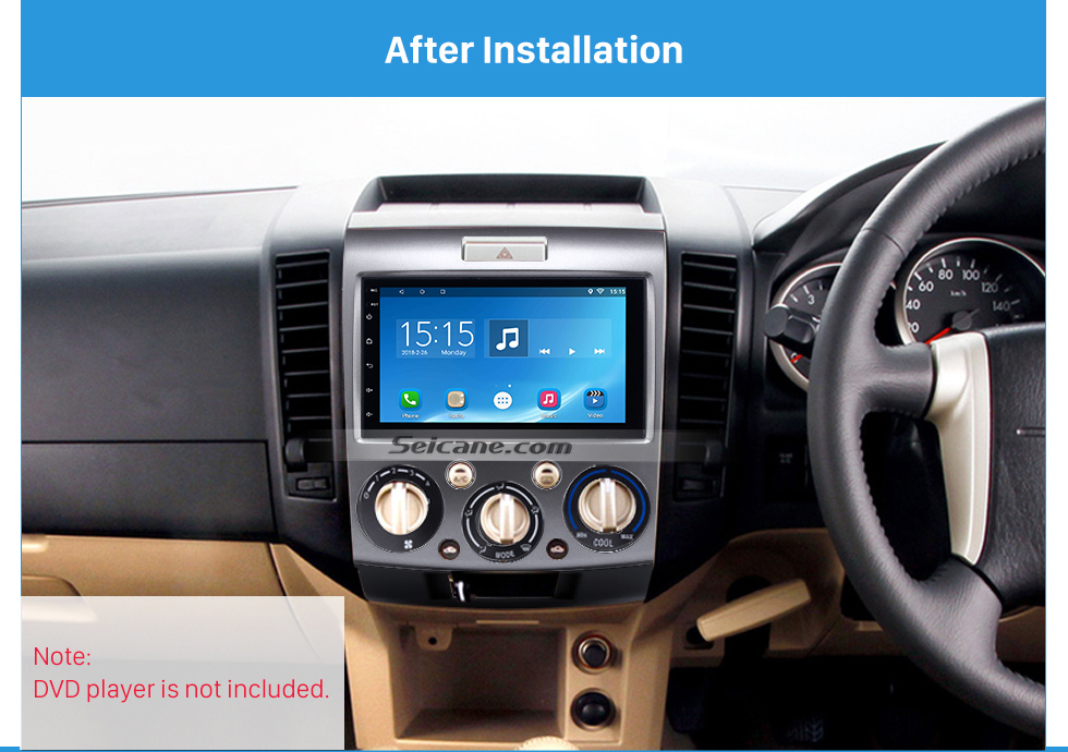 After Installation 2Din(Silver)  Car Radio Fascia for 2006-2010 Ford Everest Ford Ranger Mazda BT-50 Stereo Frame Interface Car Styling Dash Kit