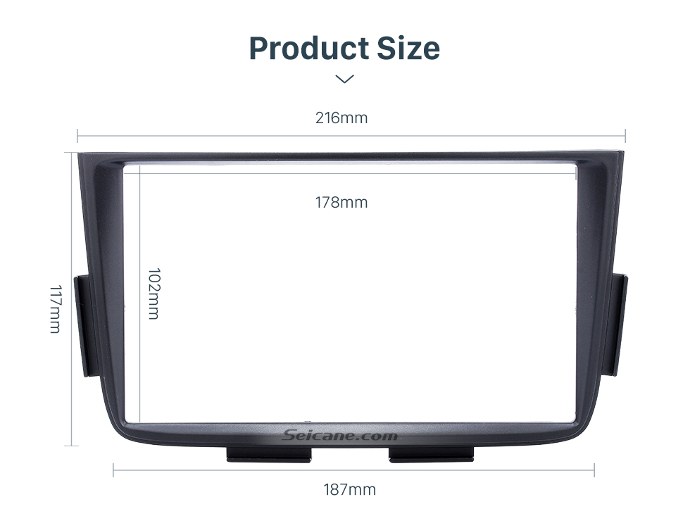 Seicane Black Double Din Car Radio Fascia for 2001 2002 2003 2004-2006 ACURA MDX Stereo Dash CD Installation Kit DVD GPS Frame Panel