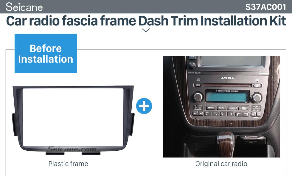 Black Double Din Car Radio Fascia For 2001 2002 2003 2004
