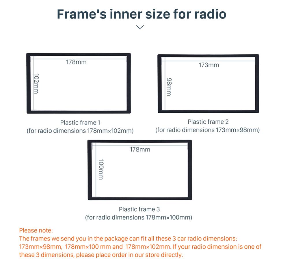 Seicane OEM style 2017 2018 2019 VOLKSWAGEN CRAFTER Car Radio Fascia Frame Panel in Dash Trim Installation Mount Kit