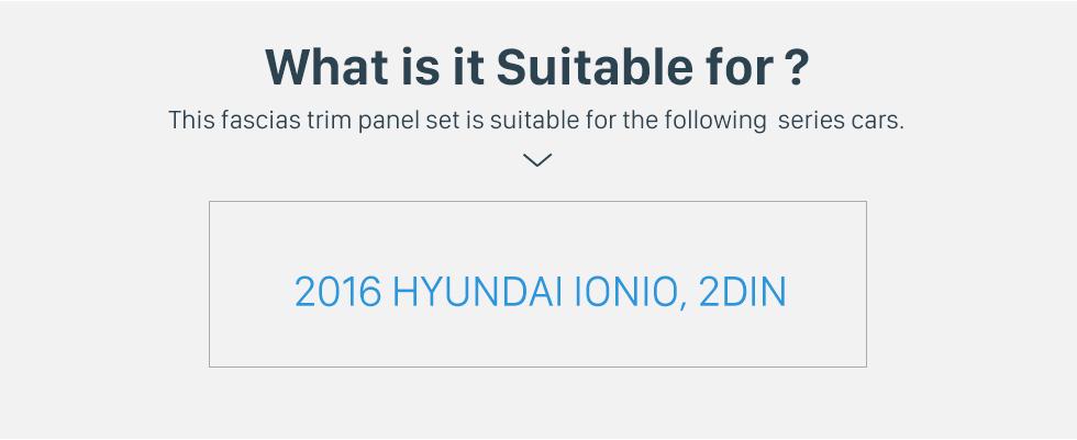 Seicane 2 DIN OEM style Plactic Car Radio Frame  Fascia for 2016 HYUNDAI IONIO Dashboard Panel Trim Bezel 178*102mm