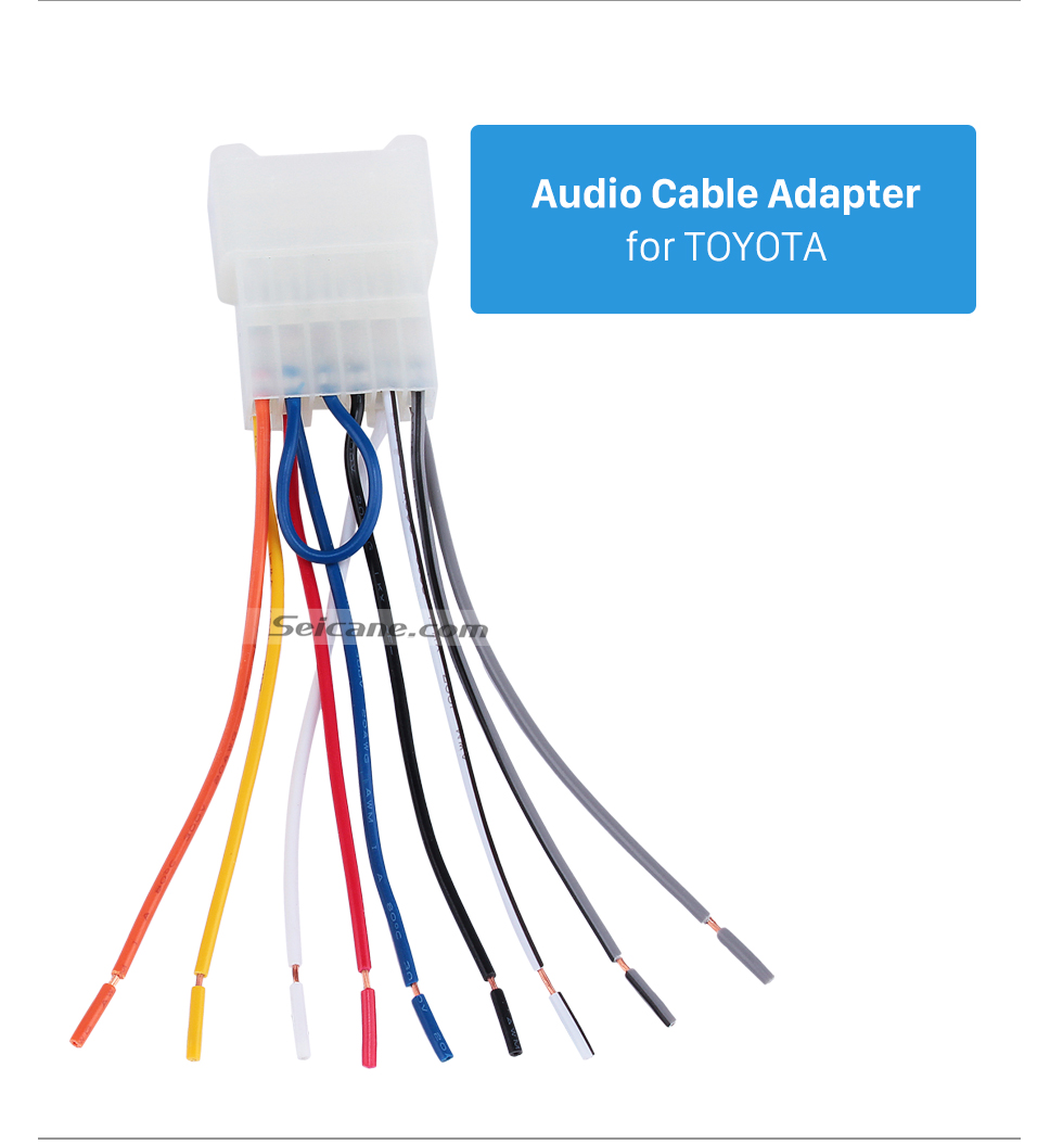 Audio Cable Adapter for TOYOTA Auto Car Sound Plug Adaptor Audio Cable for TOYOTA Universal/BYD F3