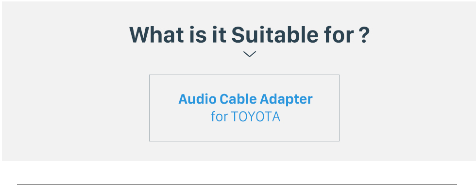 What is it Suitable for? Auto Car Sound Plug Adaptor Audio Cable for TOYOTA Universal/BYD F3