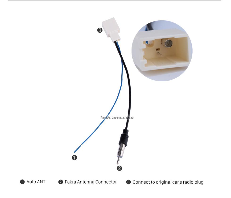 Seicane Adaptador de cabo de rádio do carro adaptador de cabo de áudio com RCA para 2012 TOYOTA