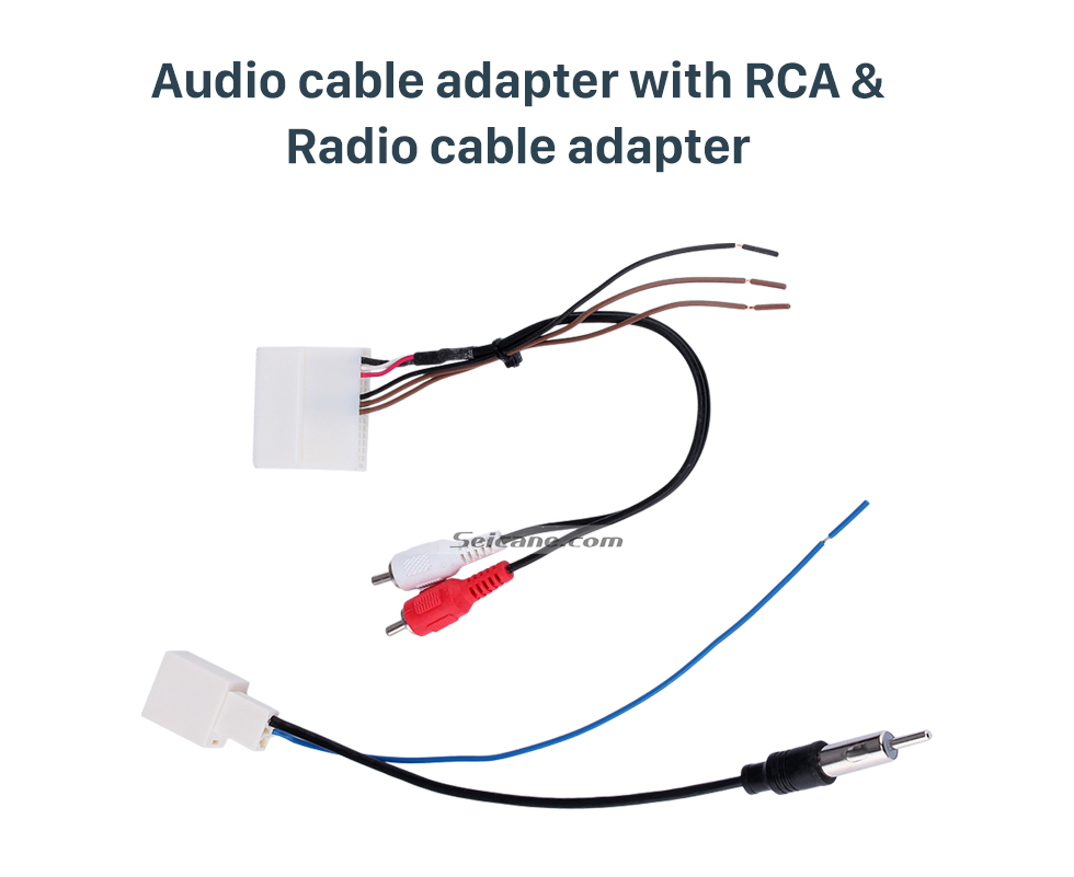 Audio cable adapter with RCA & Radio cable adapter Adaptador de cabo de rádio do carro adaptador de cabo de áudio com RCA para 2012 TOYOTA