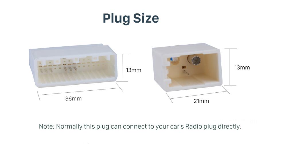 Plug Size Adaptador de cabo de rádio do carro adaptador de cabo de áudio com RCA para 2012 TOYOTA