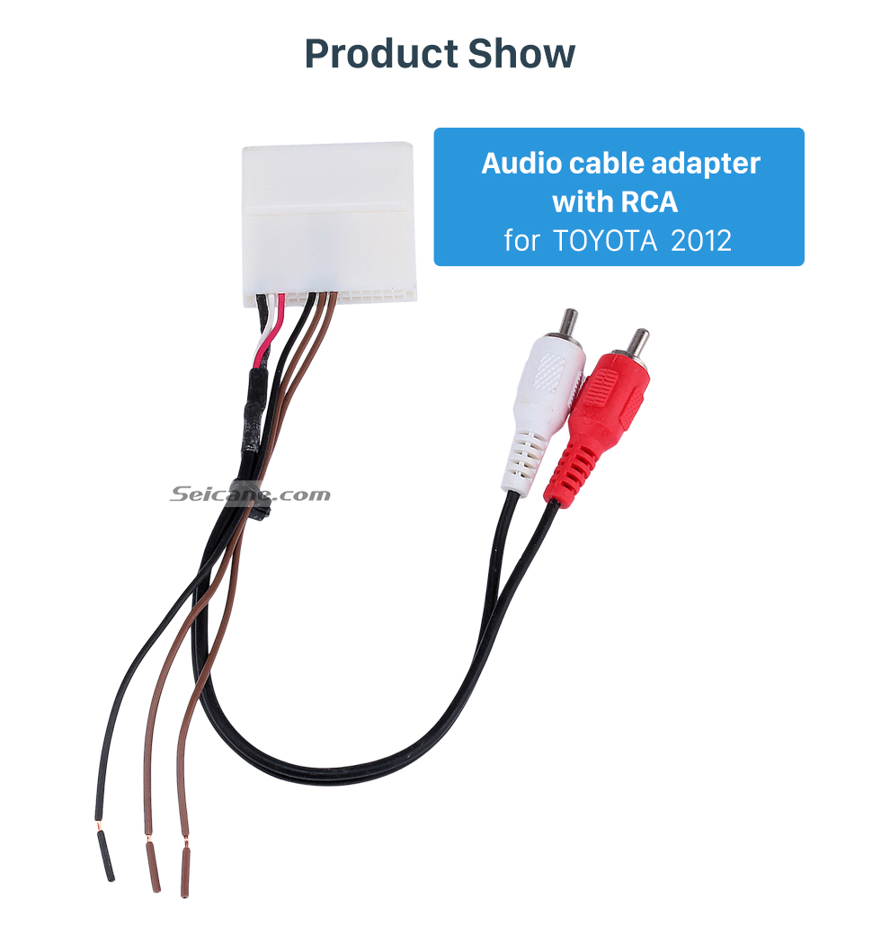 Product Show Car Radio Cable Adaptor and Video Audio Cable Adaptor with RCA for 2012 TOYOTA
