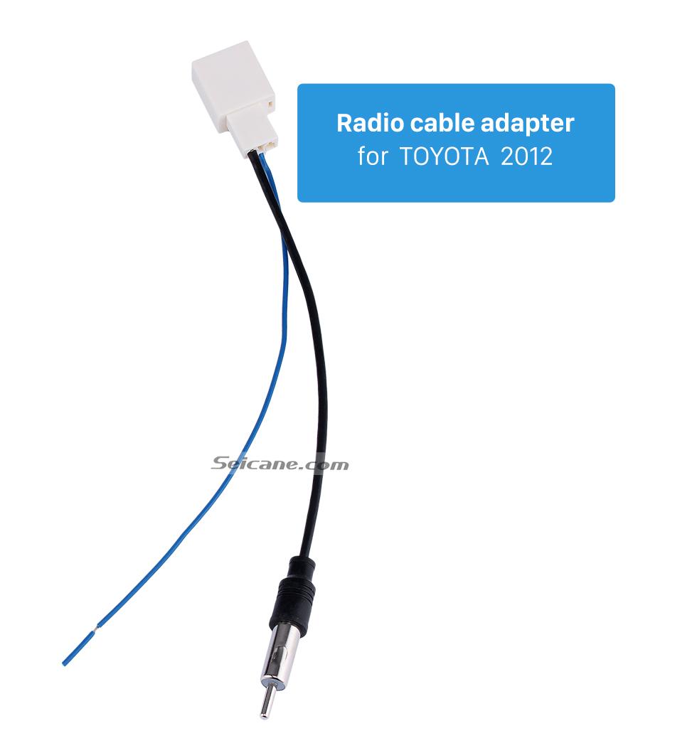 Radio cable adapter for TOYOTA 2012 Adaptador de cabo de rádio do carro adaptador de cabo de áudio com RCA para 2012 TOYOTA