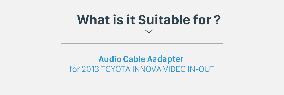 Seicane High-quality Auto Car VIDEO IN-OUT Audio Video Cable for 2013 TOYOTA INNOVA