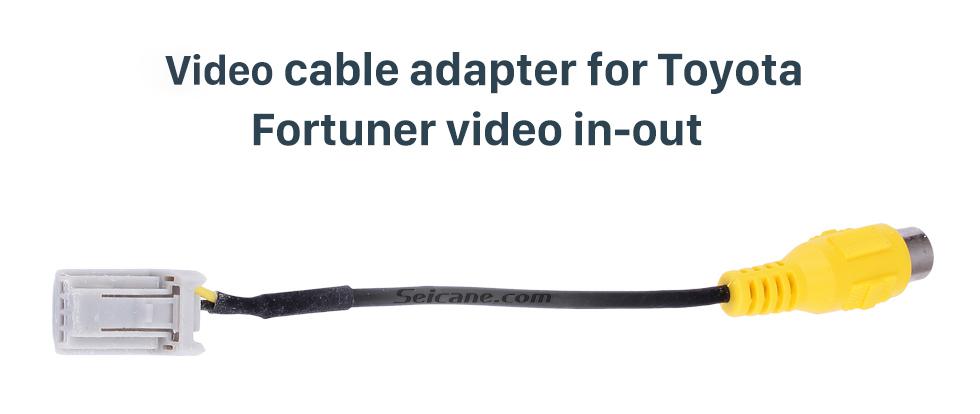 Video cable adapter for Toyota Fortuner video in-out Верхний видео-входной интерфейс Аудиокабель для Toyota Fortuner