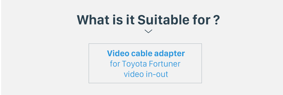 What is it Suitable for? Top Video in-out Interface Audio Video Cable for Toyota Fortuner