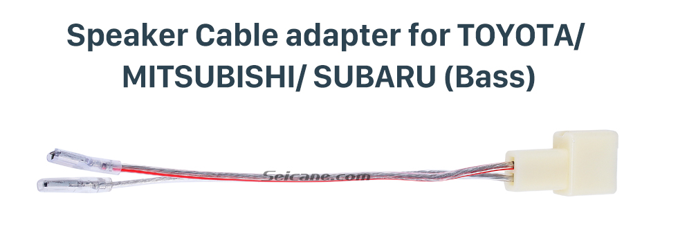Speaker Cable adapter for TOYOTA/MITSUBISHI/SUBARU(Bass) High Quality Wiring Harness Adapter Speaker Cable for TOYOTA/MITSUBISHI/SUBARU (Bass)
