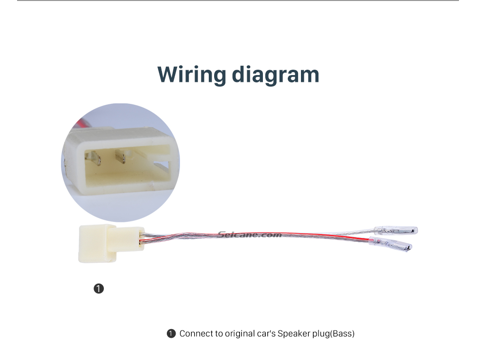 Wiring diagram High Quality Wiring Harness Adapter Speaker Cable for TOYOTA/MITSUBISHI/SUBARU (Bass)