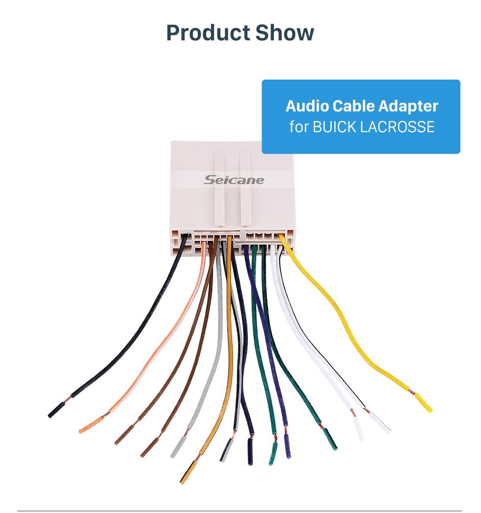 Seicane Adaptateur de faisceau de câblage de câble audio pour voiture chaude pour BUICK LACROSSE