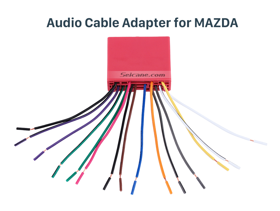 Audio Cable Adapter for MAZDA Audio Cable Sound Wiring Harness Adapter for MAZDA Family(OLD)/Mazda 6/Mazda 3/MAZDA PREMACY(OLD)/Mazda 323