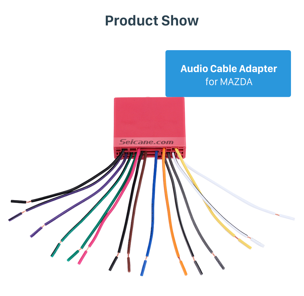 Product Show Audio Cable Sound Wiring Harness Adapter for MAZDA Family(OLD)/Mazda 6/Mazda 3/MAZDA PREMACY(OLD)/Mazda 323
