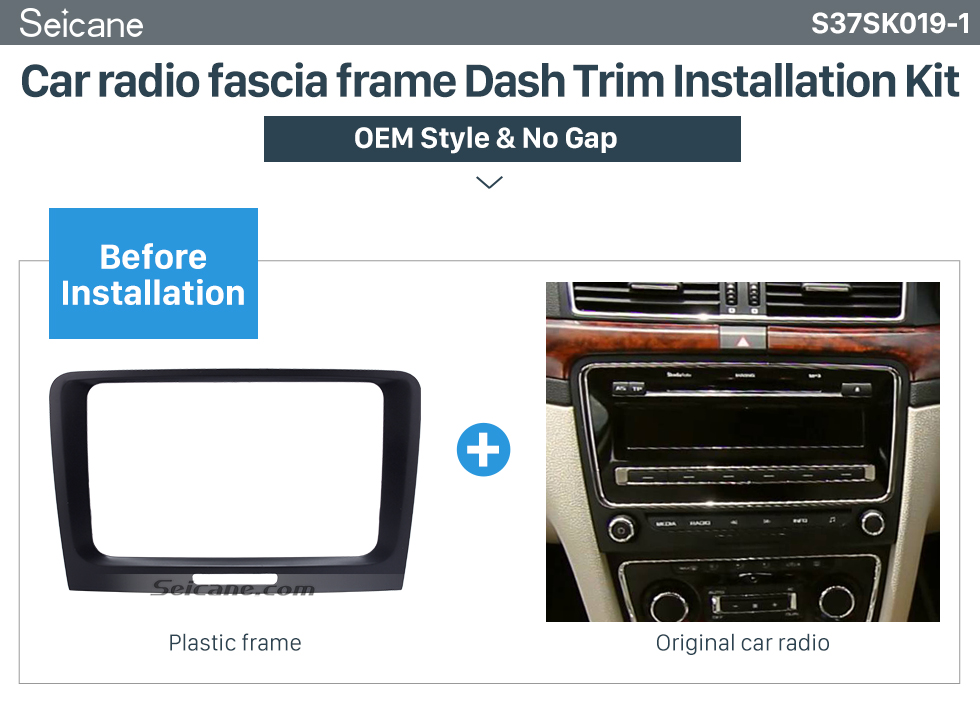OEM Style Car Stereo Radio Fascia Panel for 2009 2010 2011