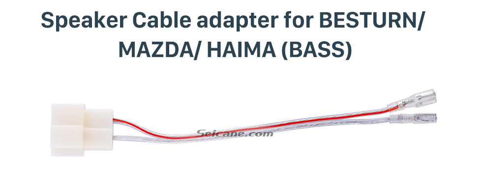 Speaker Cable adapter for BESTURN/MAZDA/HAIMA(Bass) High Quality Sound Plug Adaptor Speaker Cable for BESTURN/MAZDA/HAIMA (BASS)