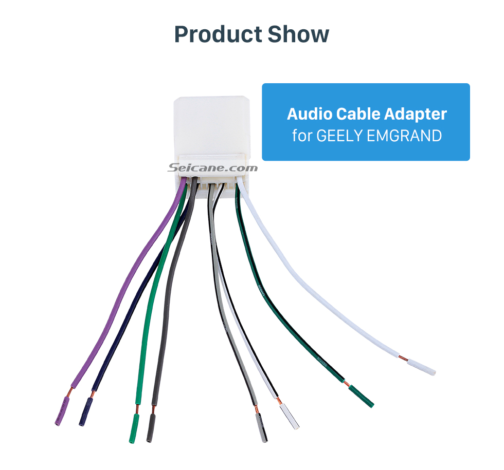 Product Show Top Wiring Harness Adapter Audio Cable for GEELY EMGRAND
