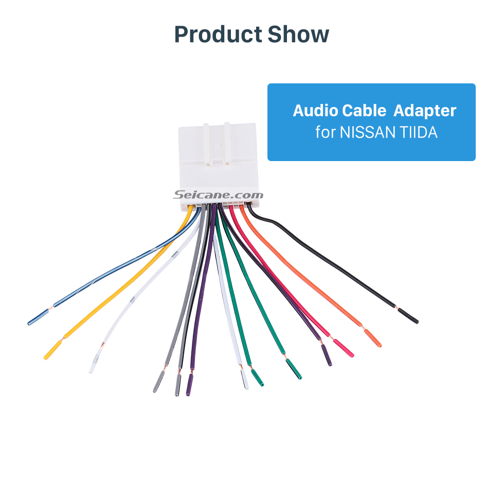 Product Show Sound Wiring Harness Audio Cable Adapter and Radio Cable Adapter for NISSAN TIIDA/Sylphy/LIVINA/GENISS