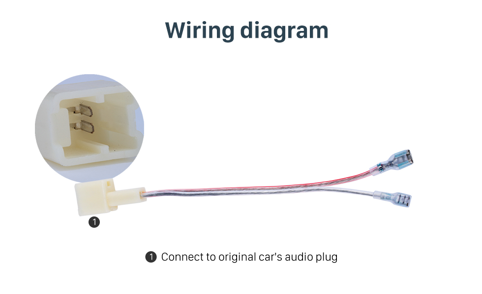 Wiring diagram Hot Auto Car Audio Speaker Cable Adapter for NISSAN (BASS)