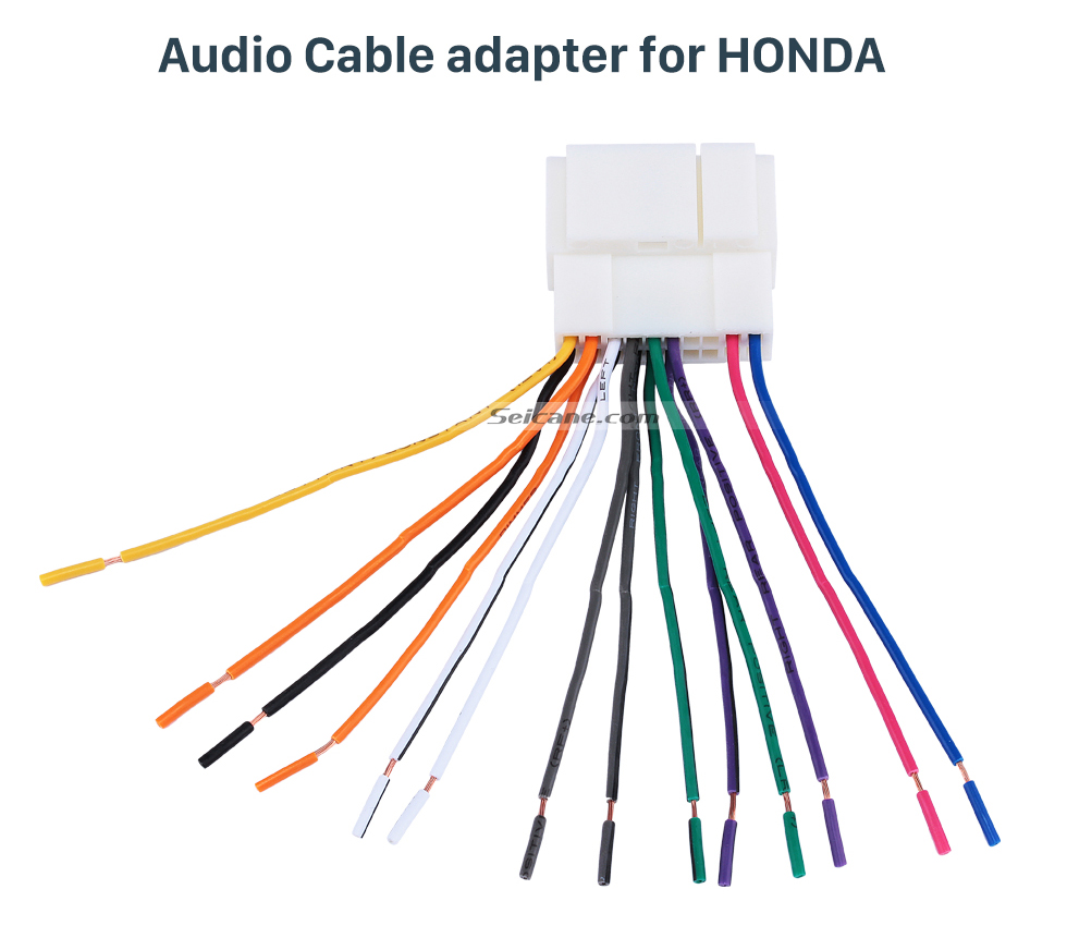 Audio Cable adapter for HONDA High-quality Wiring Harness Adapter Audio Plug Cable for HONDA Accord 2.4L/Odyssey/FIT/CITY/New Premacy/Ne/w Family/Buick Excelle/Old Epica/Buick GL8/Suzuki