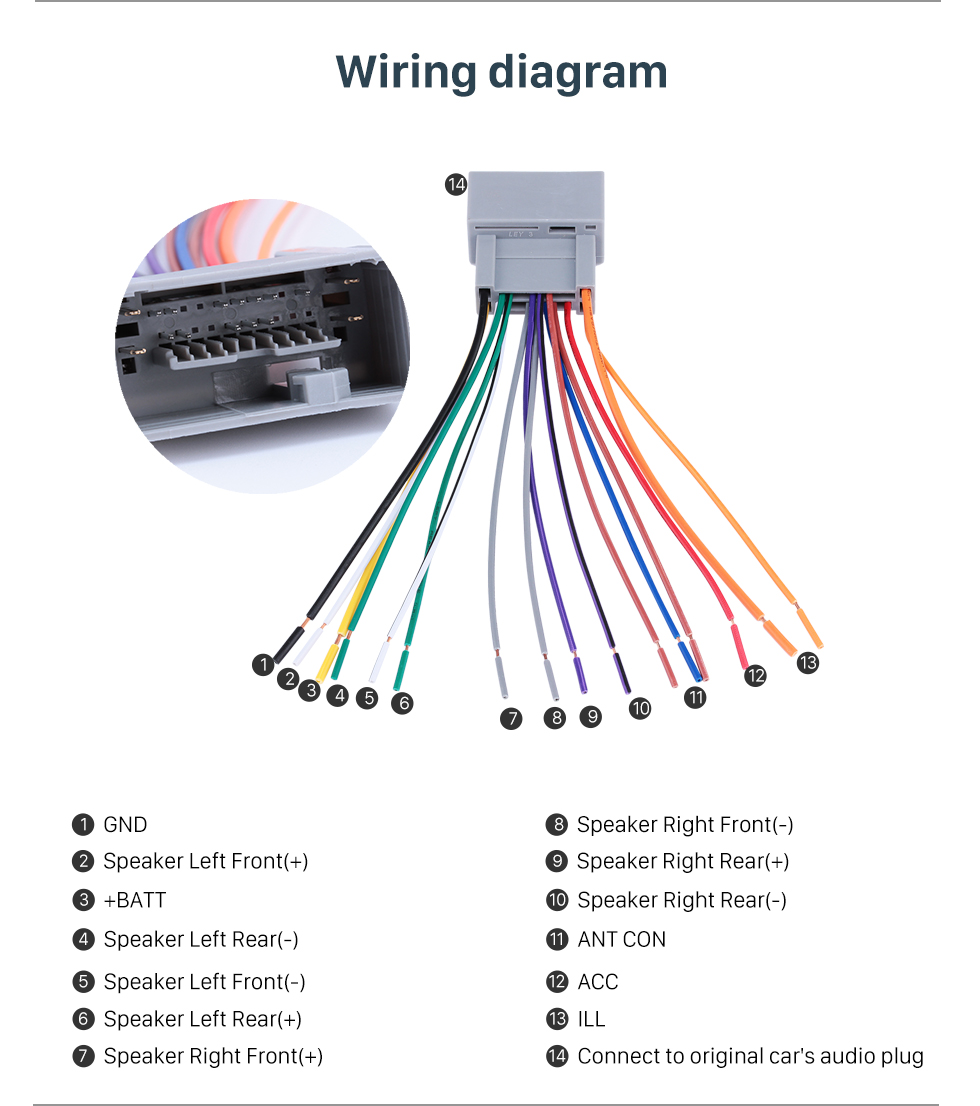 Car Audio Cable Wiring Harness Adapter