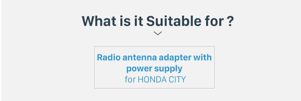 What is it Suitable for? Car Stereo Radio Antenna Cable Plug Adapter for HONDA CITY