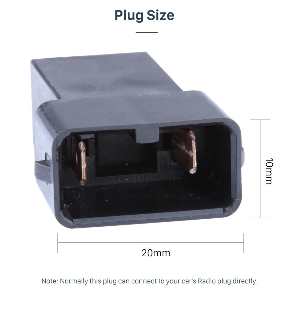 Plug Size Top Audio Cable de altavoz Adaptador de arnés de cableado para HONDA (BASS)